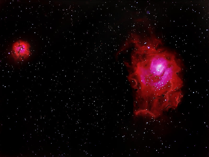 2012-03-24 - M8 and M20 - Lagoon and Triffid Nebulas