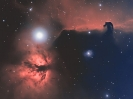 NGC2024 and Barnard 33 - Flame and Horsehead Nebula